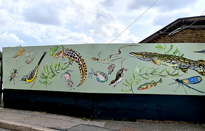 Mural at Palmers Green station