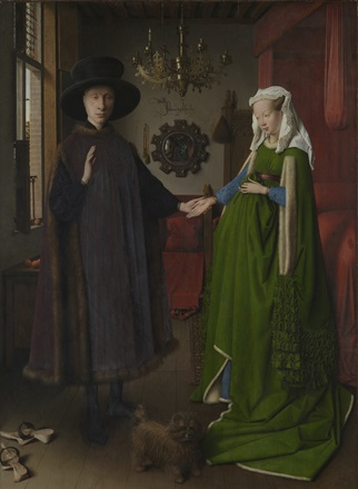 Jan van Eyck, The Arnolfini Portrait (detail), 1434 © The National Gallery, London