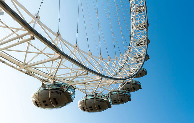 a close up of the london eye