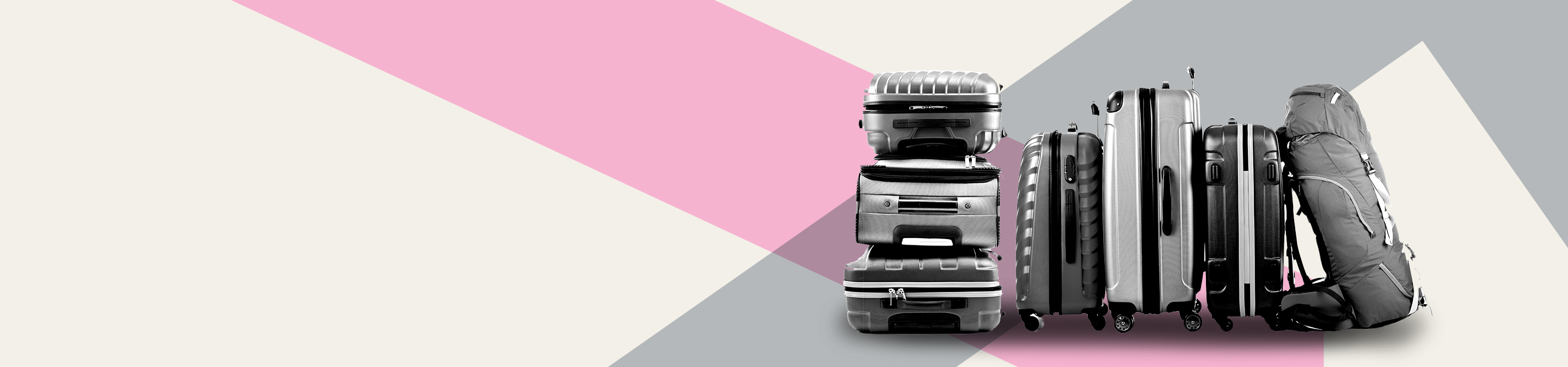 a group of luggage sitting on top of a suitcase